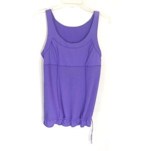Lululemon purple run tame me workout tank size 8